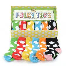 Polky and Posy Toes Socks