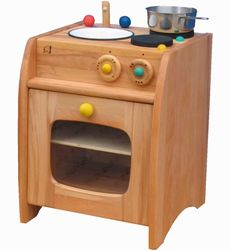 Pine Mini Kitchen with Sink & Cooker