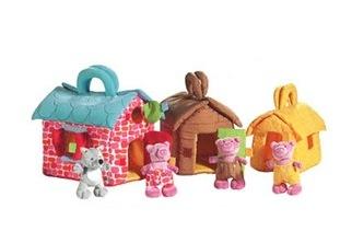 Lilliputiens Three Little Pigs Houses