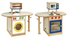 Wooden All in One Kitchen Unit
