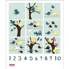 1-10 Counting Poster by Sandra Isaksson