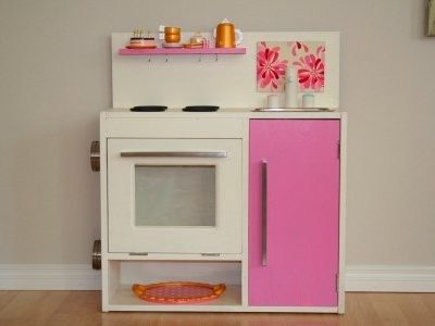Great Ikea Hack: Build your own pretend play kitchen from Vika Furusund