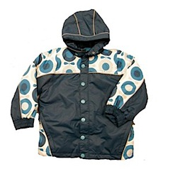 Great Autumn Winter Coat Hunt: Katvig Apple Print Jackets & Snowsuits