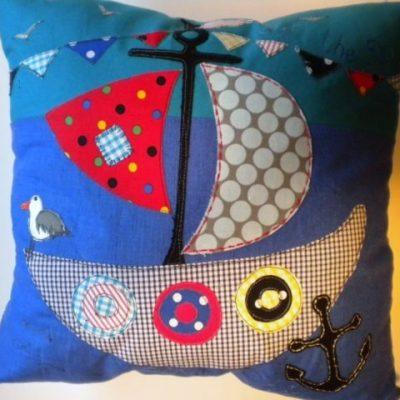 Lara Sparks pirate ship cushion