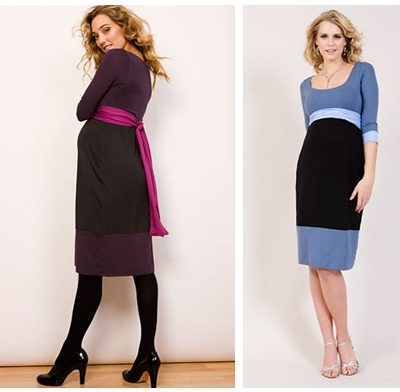 Colour block maternity dress