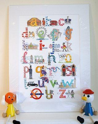London Alphabet Print