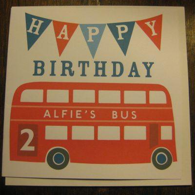 Sweet Home London personalised birthday card