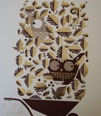 Leaf Peepers foil print by Graham Carter