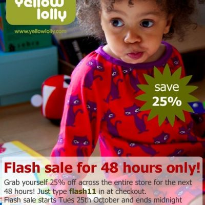 Yellow Lolly 48 Hour Flash Sale – 25% off!