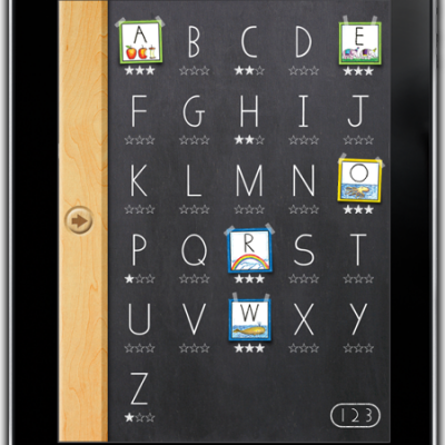 Wet-Dry-Try iPad app for learning to write capital letters & numbers