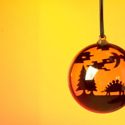 Designosaur stegosaurus ROARball Christmas decoration