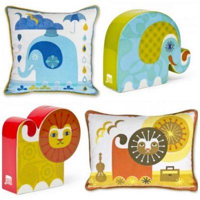Jonathan Adler money boxes and cushions