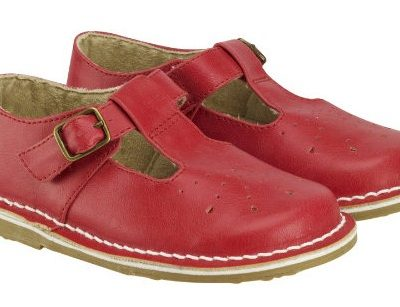 Hot on the high street: Little Bird by Jools Oliver red buckle t-bar shoes
