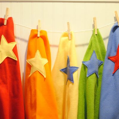 Make Your Own Monday: Easy no-sew superhero capes