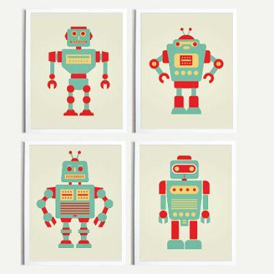 Angela Ferrara Robot Prints