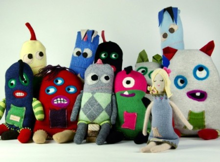 Snuggly Ugly cashmere monsters