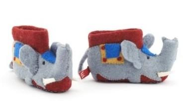 Sew Heart Felt elephant slippers for the V&A