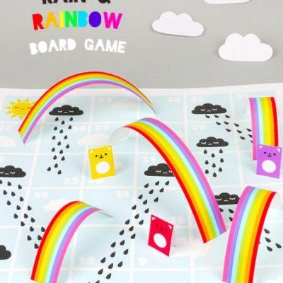 Free Printable: Rain & Rainbow board game by Mr Printables
