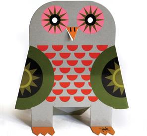 Original Metal Box Company owl nightlight