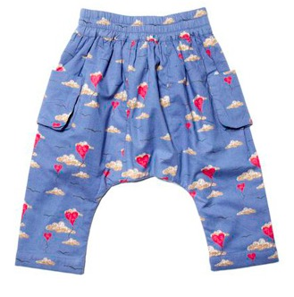 Little Duckling balloon-print baby pants