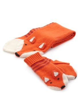 Hot on the high street: M&S fox scarf and mittens