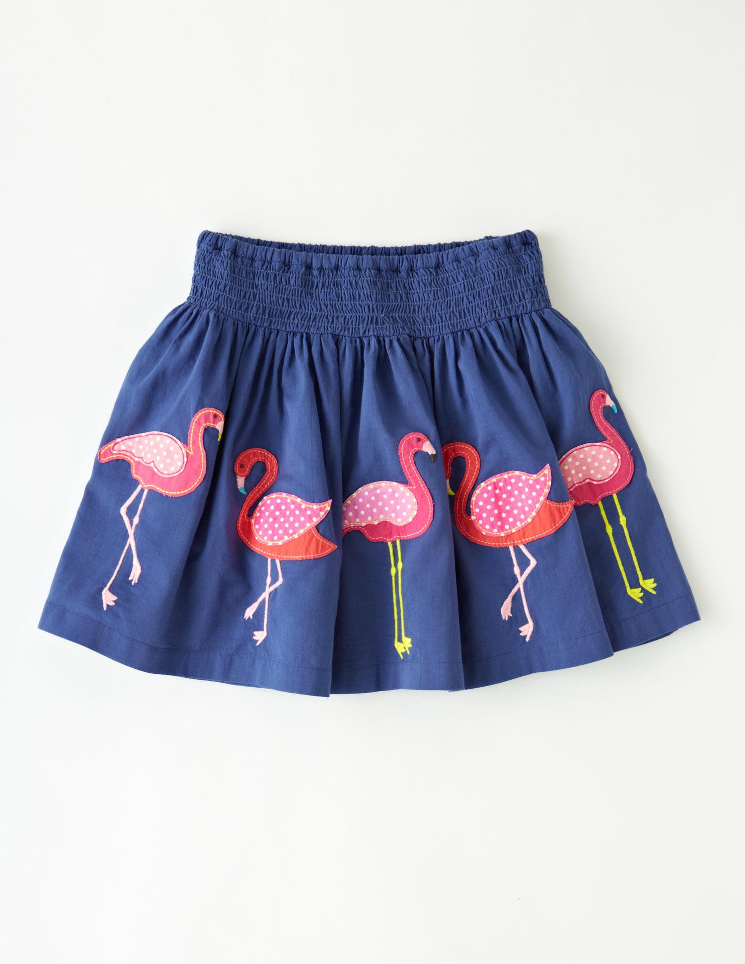 Boden flamingo skirt
