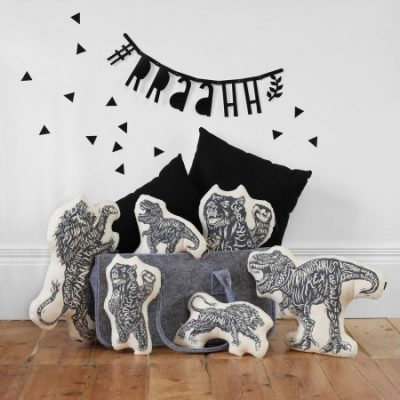 Lion of Leisure creature cushions