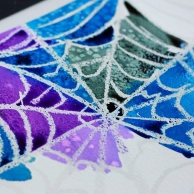 Make your own: spider web art project