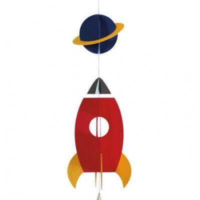 Sororfactory Paper Rocket Mobile