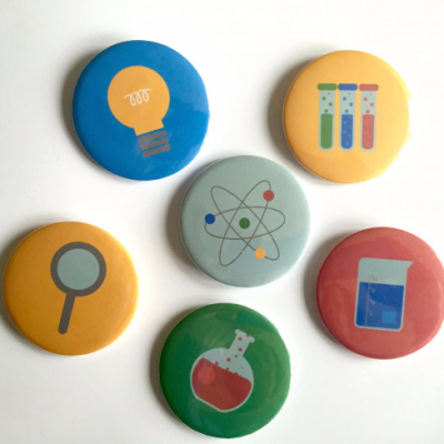 Science party? You need these badges!