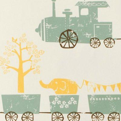 Ferm Living Tiny Train Wallpaper