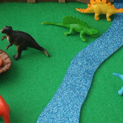 Make your own: Dinosaur small world in a suitcase