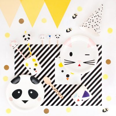 My Little Day animal party tableware