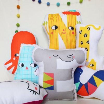 Julia Staite alphabet cushions