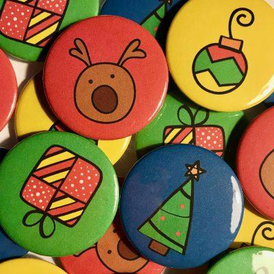 Stocking Filler: Colour Pop Christmas Badges