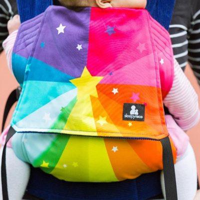 Wild Things x Sleepy Nico Rainbow Starburst Baby Carrier
