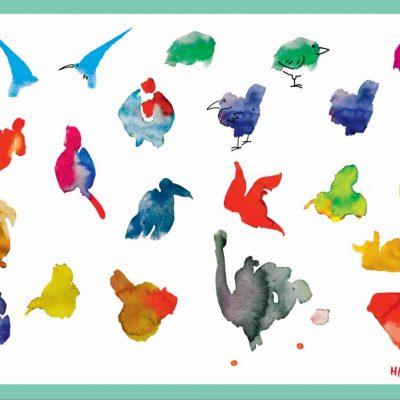 Hirameki doodle placemats