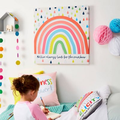 Tilliemint Rainbow Personalised Canvas