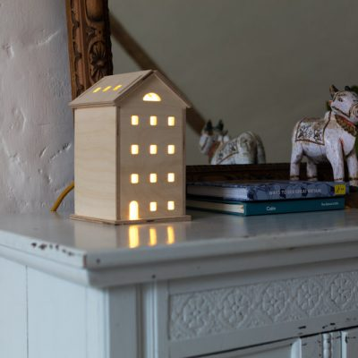 Bright Corner wooden lamps