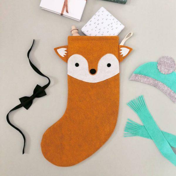 Cool Christmas Stocking - Fox