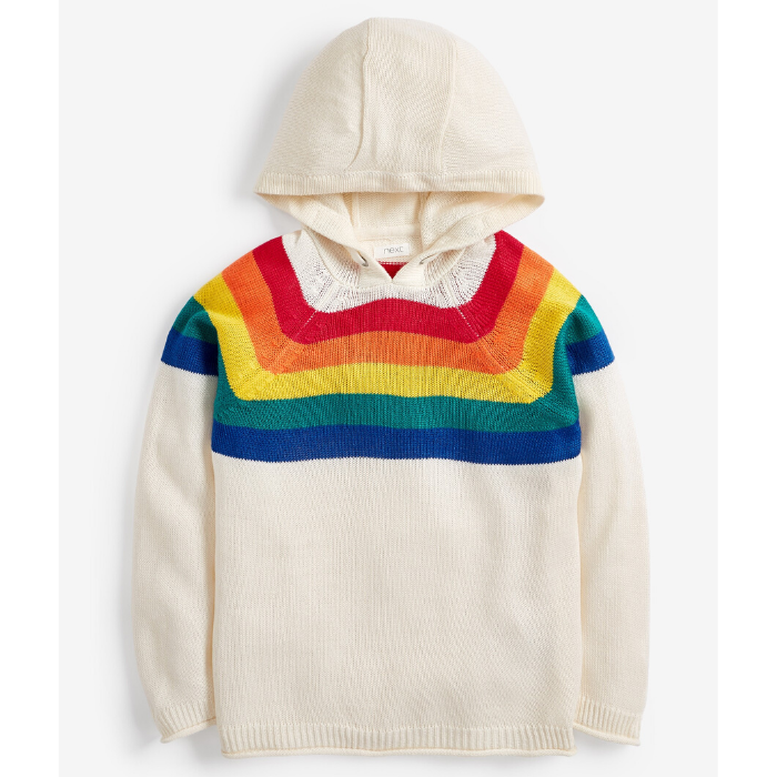 Ecru Rainbow Hoody, £15, Next
