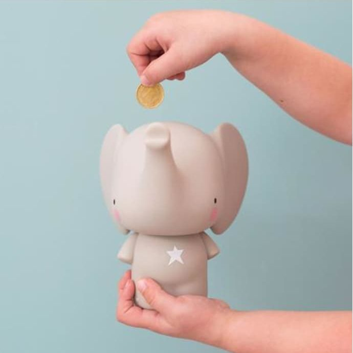 Elephant money box, £14.49, A Little Lovely Company