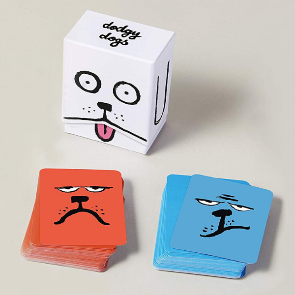 Dodgy Dogs card game, £25, Yolky Games.