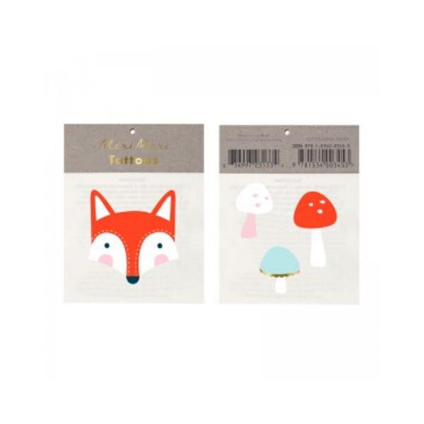 Meri Meri Fox and Mushroom tattoos, £2, Sisters Guild.