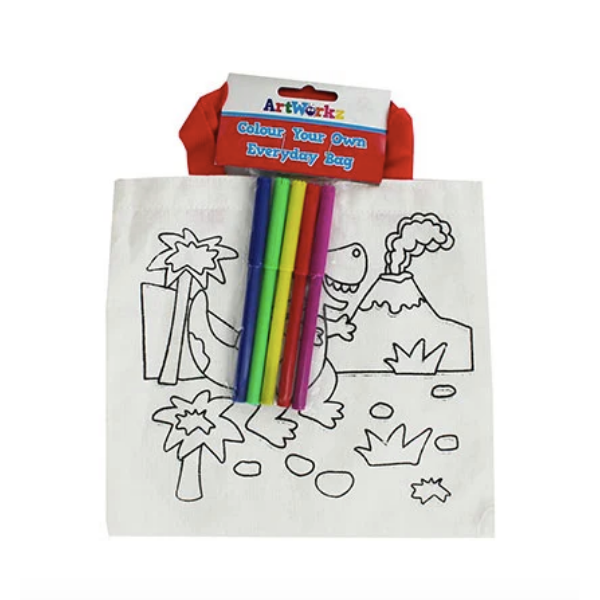 Colour-in bag, £1, The Works.