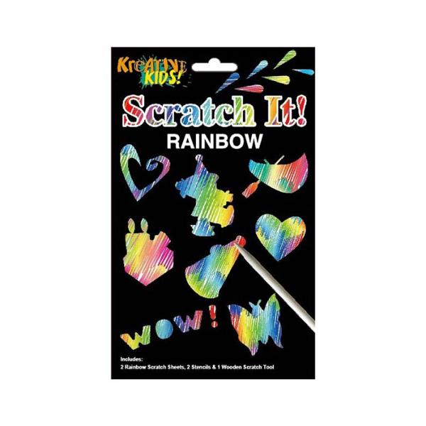 Rainbow scratch art kit, £1, Fun Learning.