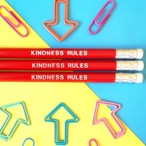 Kindness Rules pencil, £1.50, Colour Your Life Club