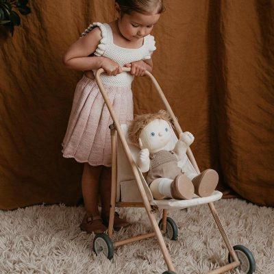 OlliElla Pramble folding toy stroller