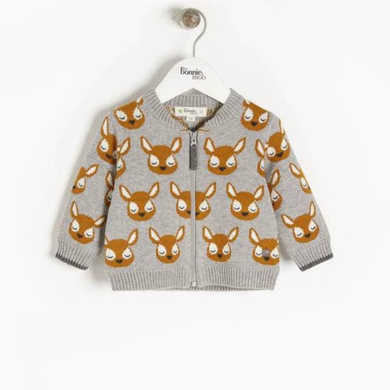 Burdock Deer jacquard cardigan, £60