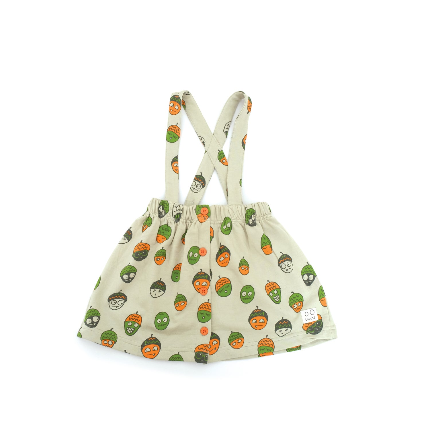 Leaves pinafore skirt, £31